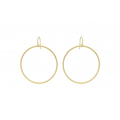 FIEN Circle gold pearl earring