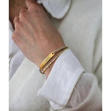 Rose gold thread bracelet...