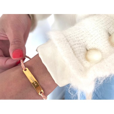 Peach-beige thread bracelet...
