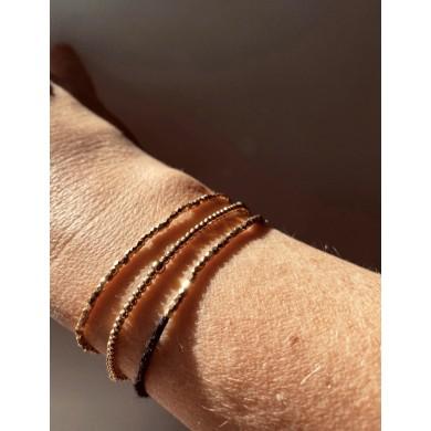 Fine gold facet bracelet,...