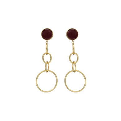 FIEN Elegante earring, red...
