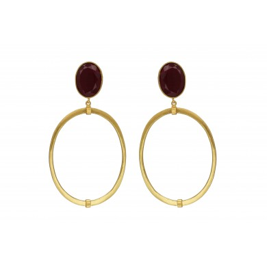 FIEN Bella earring, red & gold