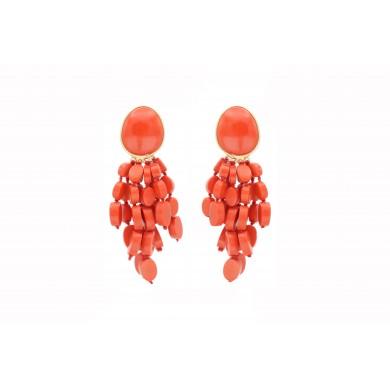 FIEN Cascata earring, coral...