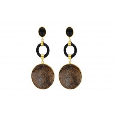 FIEN Lucca earring, bronzite