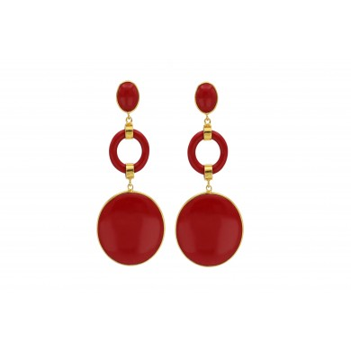 FIEN Lucca earring, red