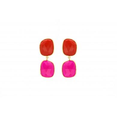 FIEN Capri earring, coral...