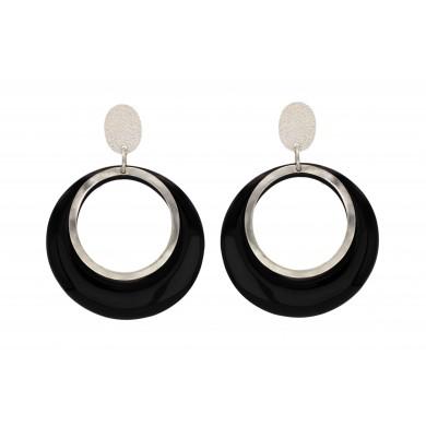 FIEN Furrore earring, black...