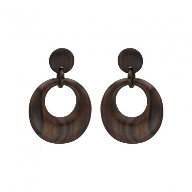 FIEN wood earring, round...