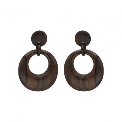 FIEN wood earring, round...