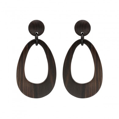 FIEN wood earring, teardrop