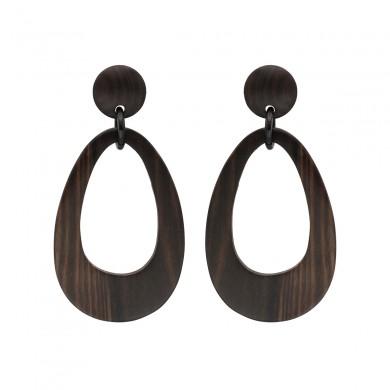 FIEN wood earring, teardrop