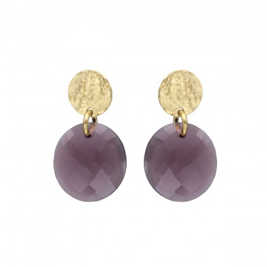 FIEN Moneta earring, purple...