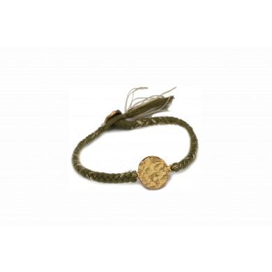 Coin bracelet FIEN, army...